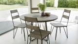 Salon de jardin en teck et métal 4 places - Collection Majorque