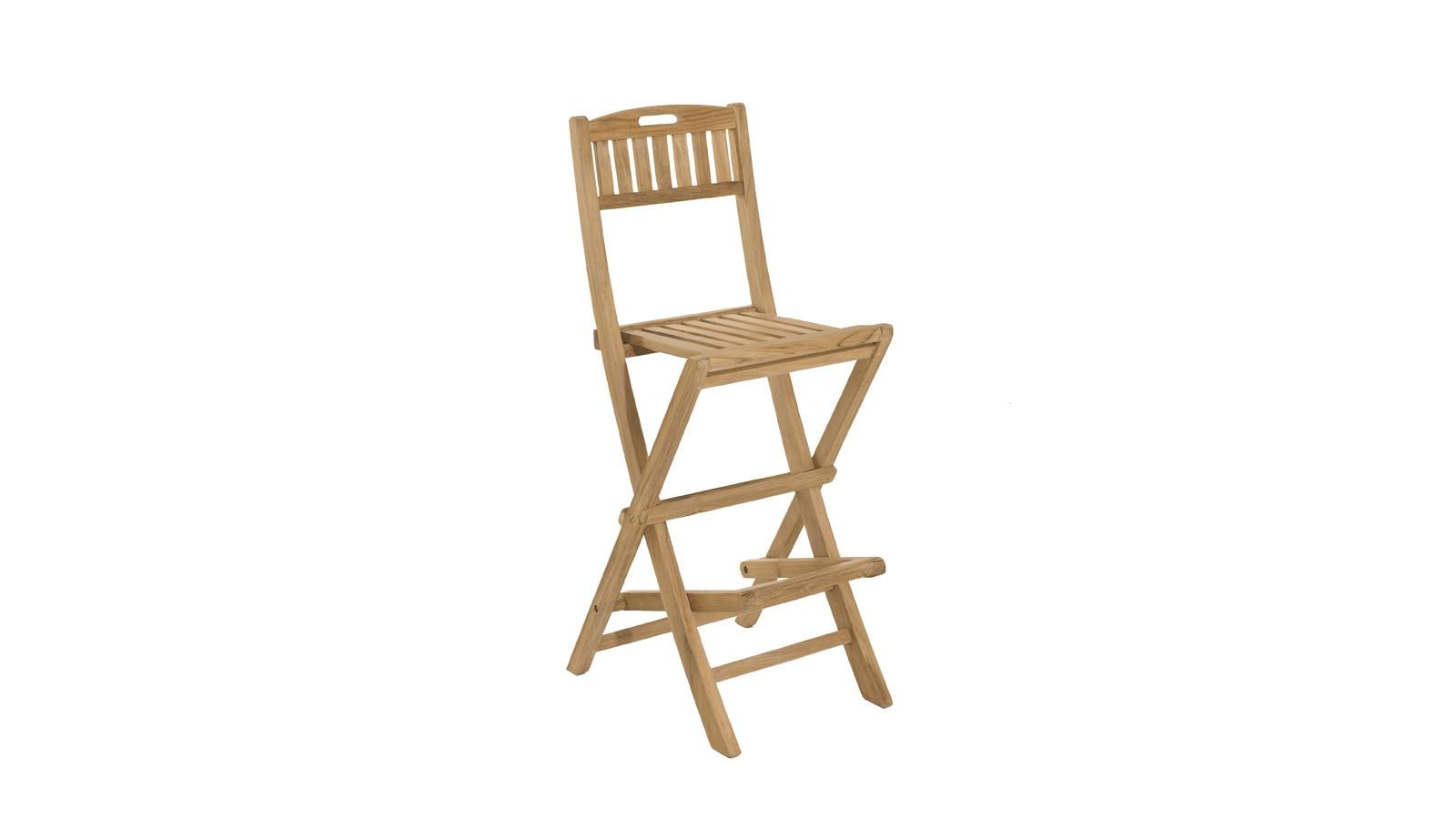 chaise de bar pliante en teck collection fun homifab. Black Bedroom Furniture Sets. Home Design Ideas