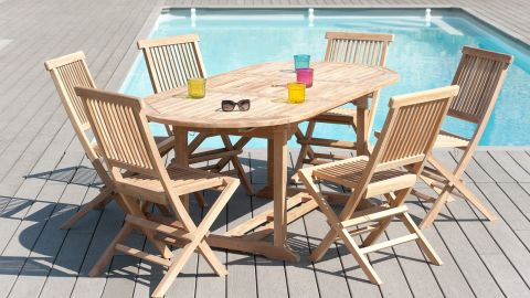 Table ovale extensible 150/200x90cm – Collection Fun