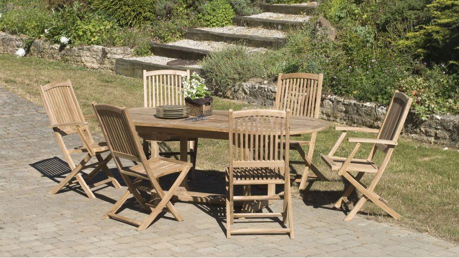 Salon de jardin en teck 6 places - Collection Krabi