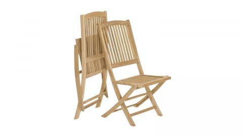 Ensemble de 2 chaises de jardin Lombock en teck - Collection Fun