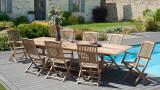 Ensemble de 2 fauteuils de jardin Lombock en teck - Collection Fun