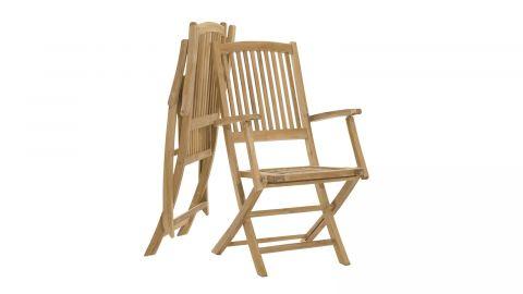Lot de 2 fauteuils de jardin Lombock en teck – Collection Fun