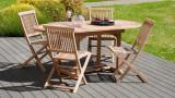 Lot de 2 chaises de jardin Java en teck – Collection Fun