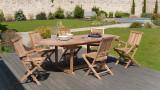 Lot de 2 fauteuils de jardin Java en teck – Collection Fun