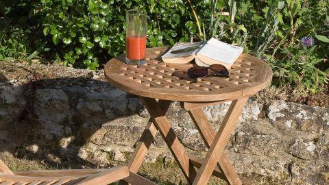 Table de pique nique ronde en teck – Collection Fun
