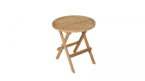 Table de pique nique ronde en teck – Collection Fun