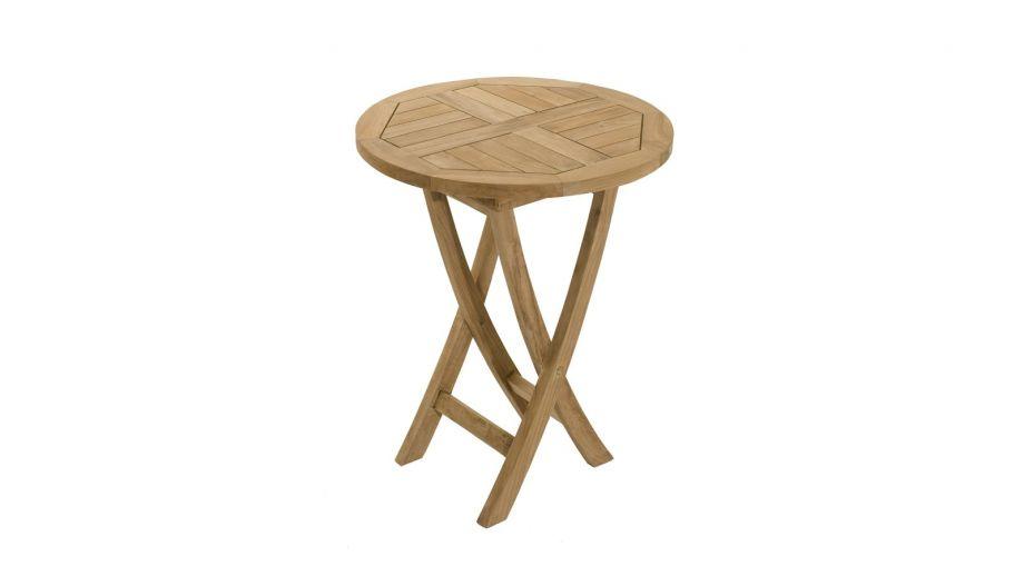 Table ronde pliante en teck 60 cm – Collection Fun