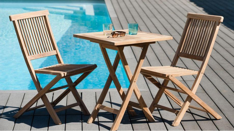 Table carrée pliante 60cm – Collection Fun