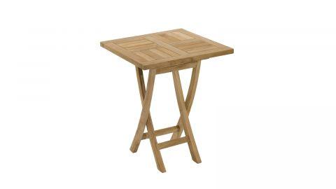 Table de jardin carrée pliante 60cm en teck – Collection Fun