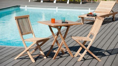 Table carrée pliante 70cm – Collection Fun