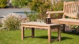 Table basse de jardin 90x45cm en bois teck - Collection Fun