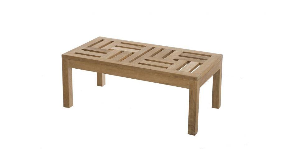 Table basse 100x50cm en teck – Collection Fun