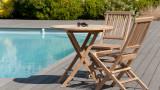 Salon de jardin en teck 2 places - Collection Sumba