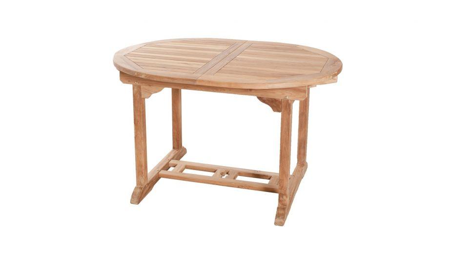 Table ovale extensible en teck 120/180x90cm – Collection Fun