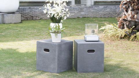 Cube en alliage et fibre de verre – Collection Hector