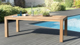 Table à manger de jardin Denver en teck 200x100cm – Collection Cali