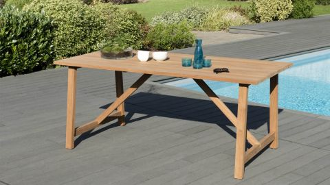 Table à manger Soho en teck 180x90cm – Collection Cali a34e8e0388b8
