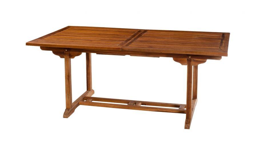 Table rectangulaire extensible en teck 180/240x100cm – Collection Maeva