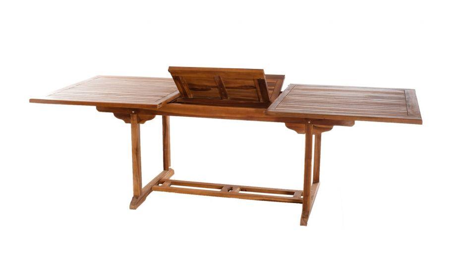 table rectangulaire extensible en teck 180 240x100cm. Black Bedroom Furniture Sets. Home Design Ideas