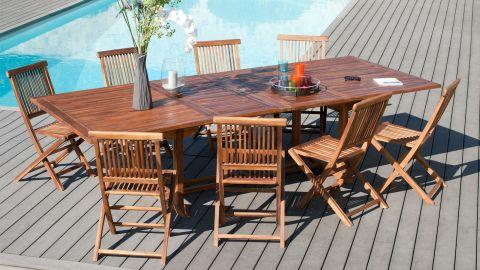 Lot de 2 chaises Java en teck – Collection Maeva