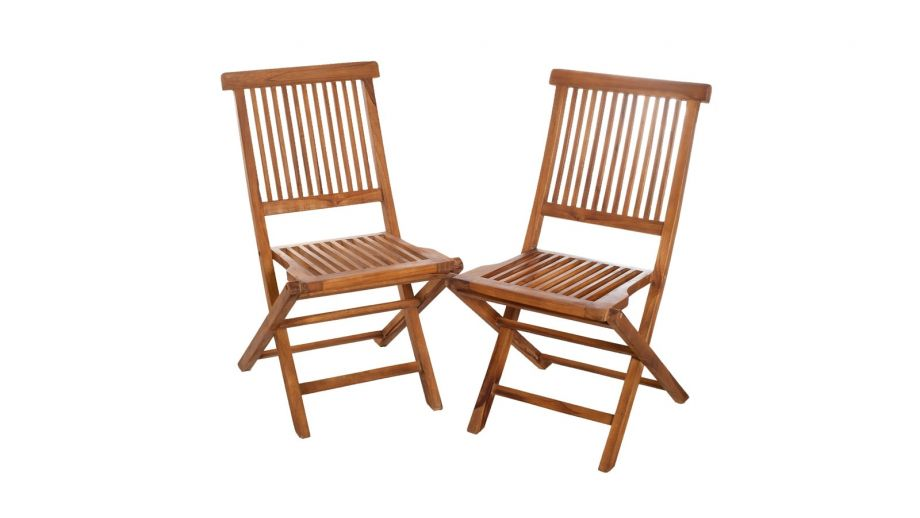 Lot de 2 chaises Java en teck – Collection Maeva