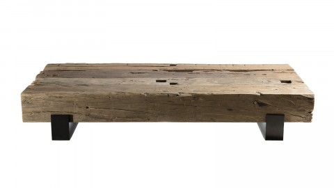Table basse traverse en bois massif - Collection Mathis