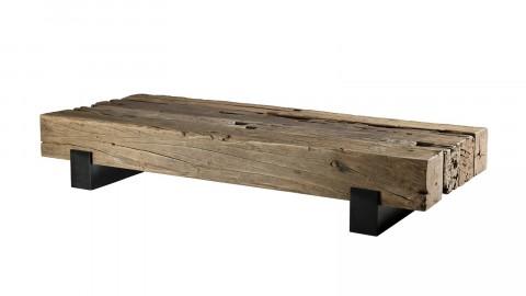 Table basse traverse en bois massif - Collection Mathis
