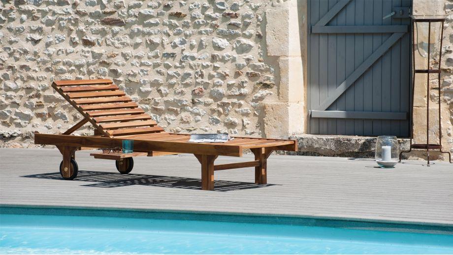 bain de soleil en teck collection maeva homifab. Black Bedroom Furniture Sets. Home Design Ideas