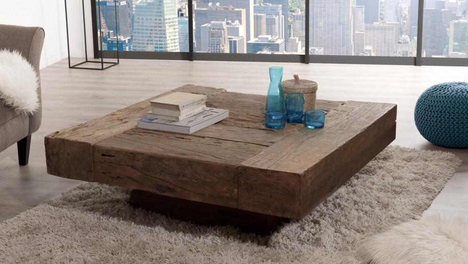 Table basse carrée en bois massif - Collection Mathis