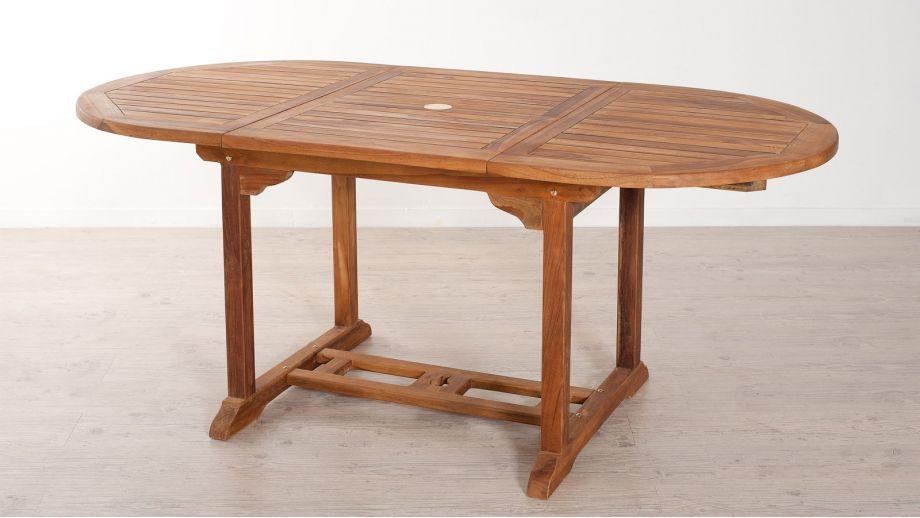 Table ovale extensible en teck 120/180x90cm – Collection Maeva