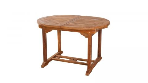 Table de jardin ovale extensible en teck 120/180x90cm – Collection Maelle