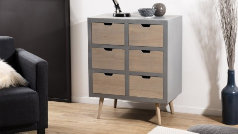 Commode 6 tiroirs - Collection Enzo