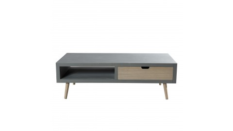 Table basse 1 niche 2 tiroirs - Collection Enzo
