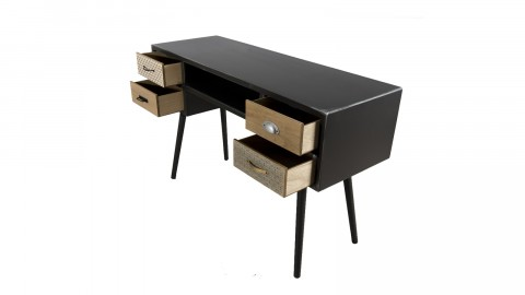 Bureau 4 tiroirs - Collection Leon