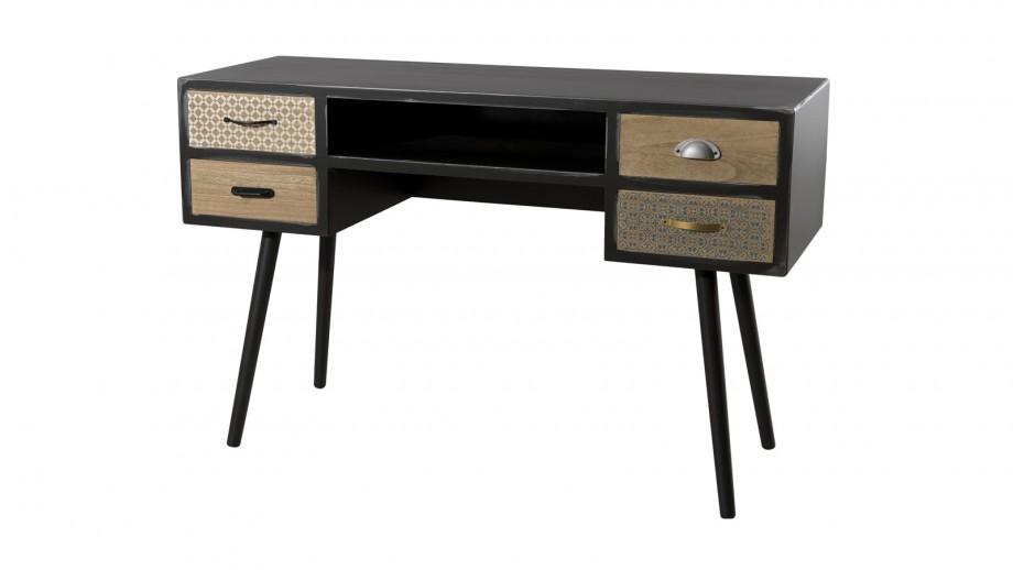 Bureau 4 tiroirs - Collection Leon