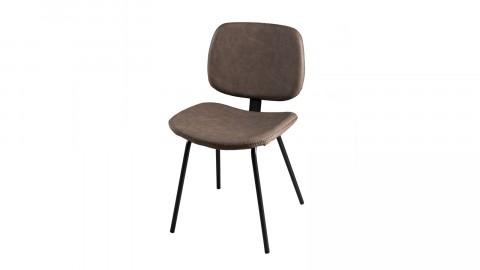 Lot de 2 chaises Jimmy en simili cuir marron - Collection Paul