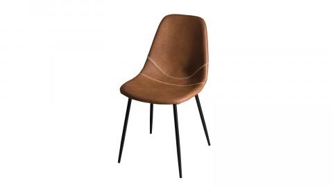 Lot de 2 chaises John en simili cuir marron - Collection Tom