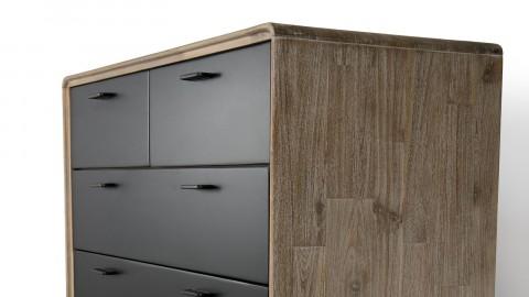 Commode 5 tiroirs en acacia piètement en métal - Collection Paloma