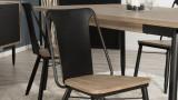 Lot de 2 chaises en acacia et acier - Collection Ella