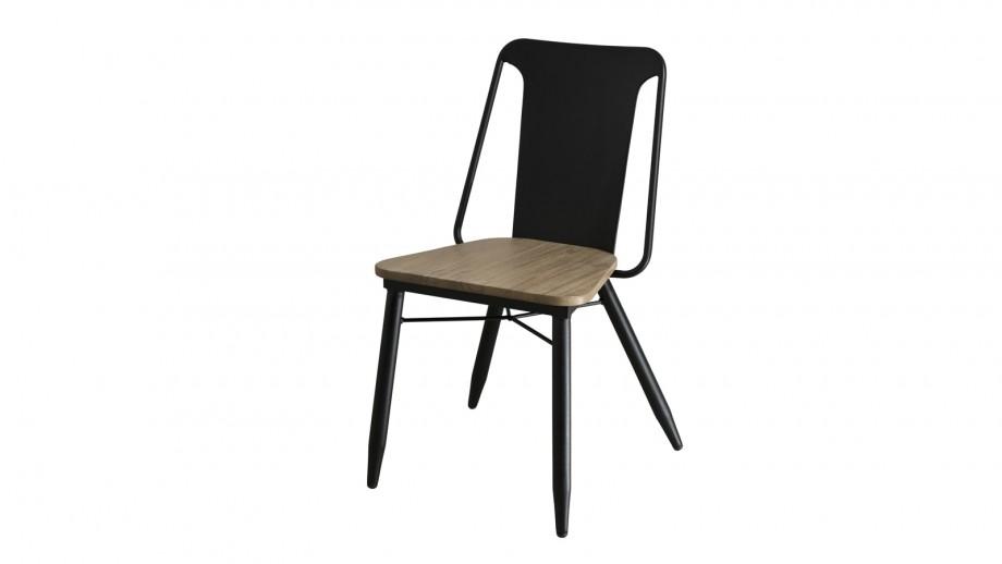 Lot de 2 chaises en acacia et acier - Collection Paloma