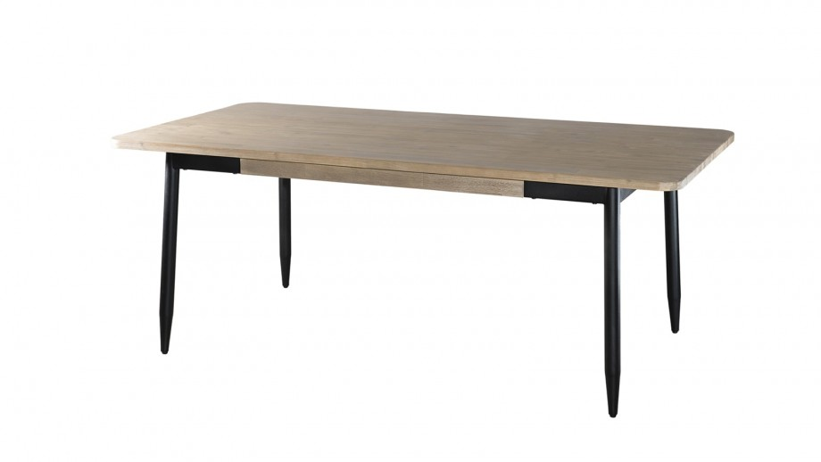 Table à manger 200x100cm en acacia piètement en métal - Collection Paloma