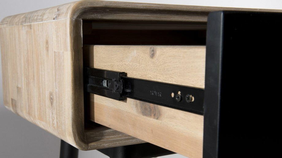 Console 3 tiroirs en acacia piètement en métal - Collection Paloma