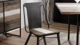 Lot de 2 chaises en acacia et métal - Collection Theo