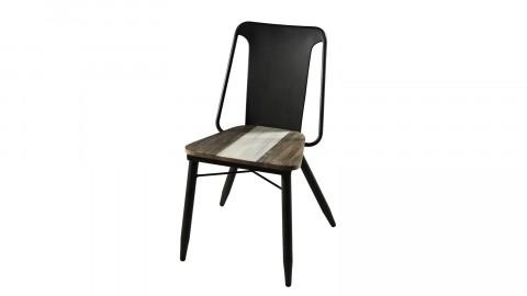 Lot de 2 chaises en acacia et métal - Collection Mateo