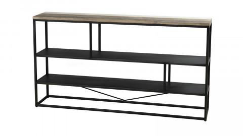 Etagère 160x90cm 3 niveaux en acacia et métal - Collection Theo