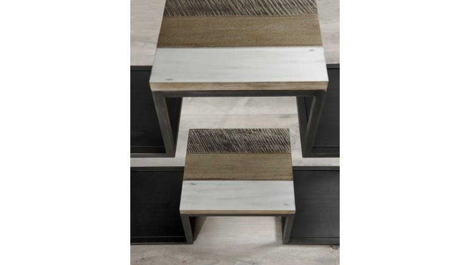 Etagère 100x170cm 3 niveaux en acacia et métal - Collection Mateo