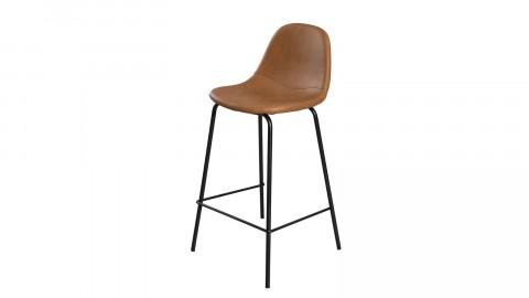 Lot de 2 chaises de bar John en simili cuir marron - Paul