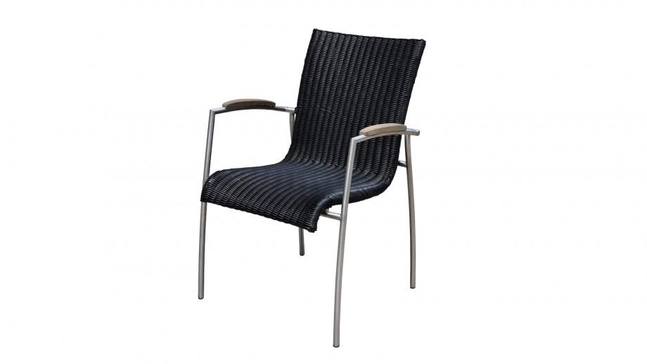 Table et 6 chaises de jardin en résine et teck - Collection Melbourne