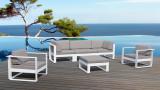 Salon de jardin en métal et tissu - Collection St Tropez